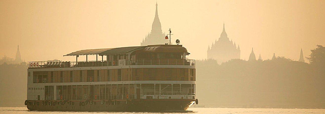 Viaggio in Myanmar, rilassandosi sul fiume Irrawaddy